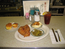 Our famous Skillet Fried Chicken plate!